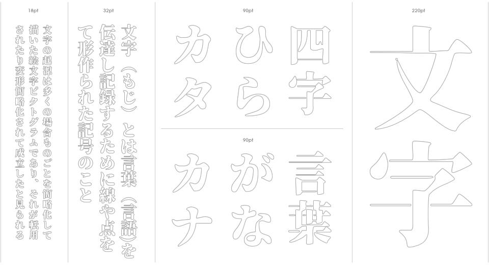 Soukou Mincho Stencil Outline