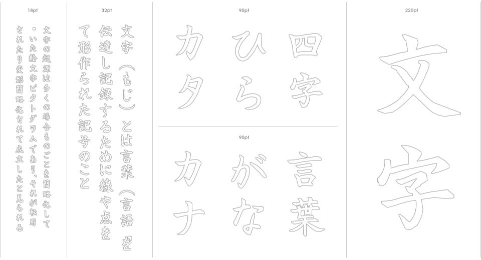 Aihara Fude Stencil Outline