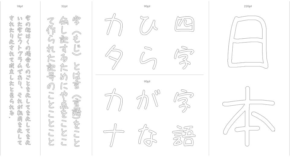 Tegaki Zatsu Stencil Outline